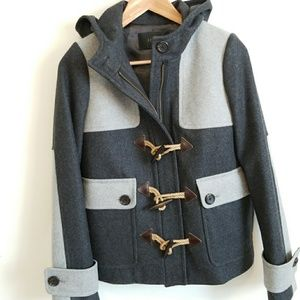 J. Crew | Wool Duffle Colorblock Coat
